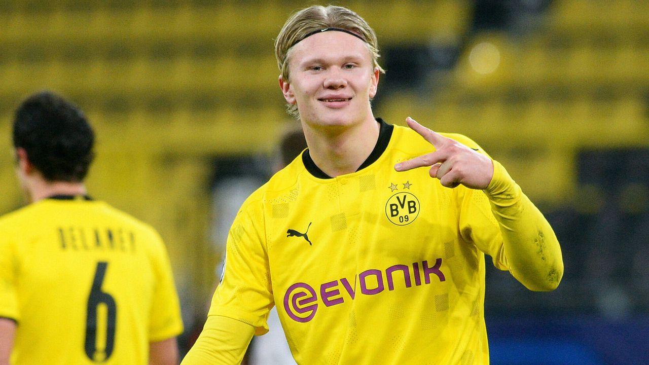 Angriff: Erling Haaland (Borussia Dortmund) - Bildquelle: imago images/Uwe Kraft