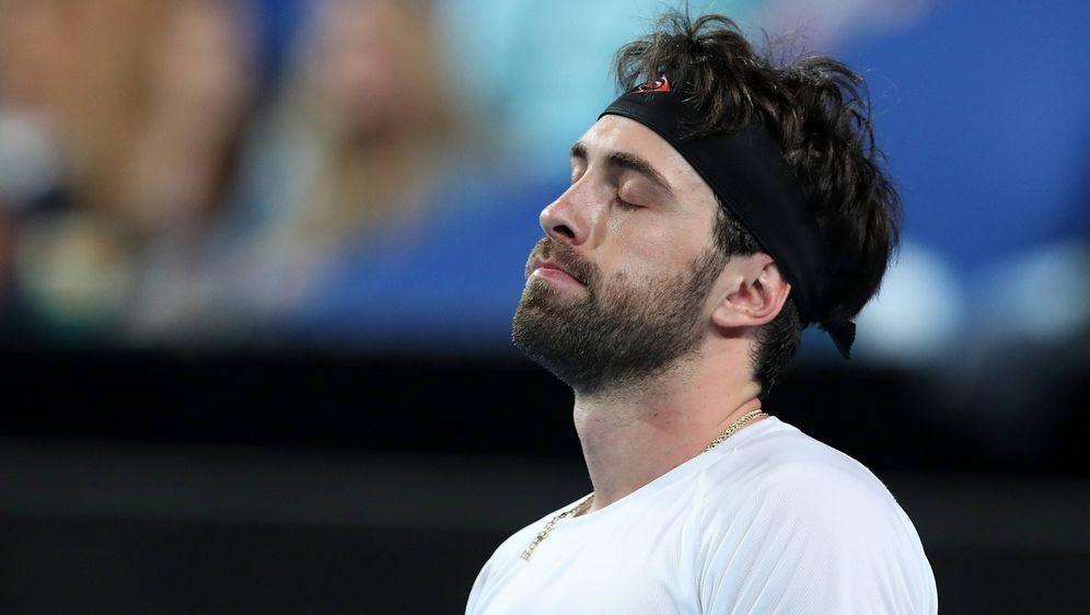 Der georgische Tennisstar Nikoloz Basilashvili wurde von der Polizei in Tifl... - Bildquelle: imago images/AAP