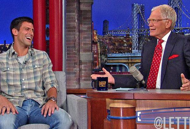 Novak Djokovic en el Show de David Letterman
