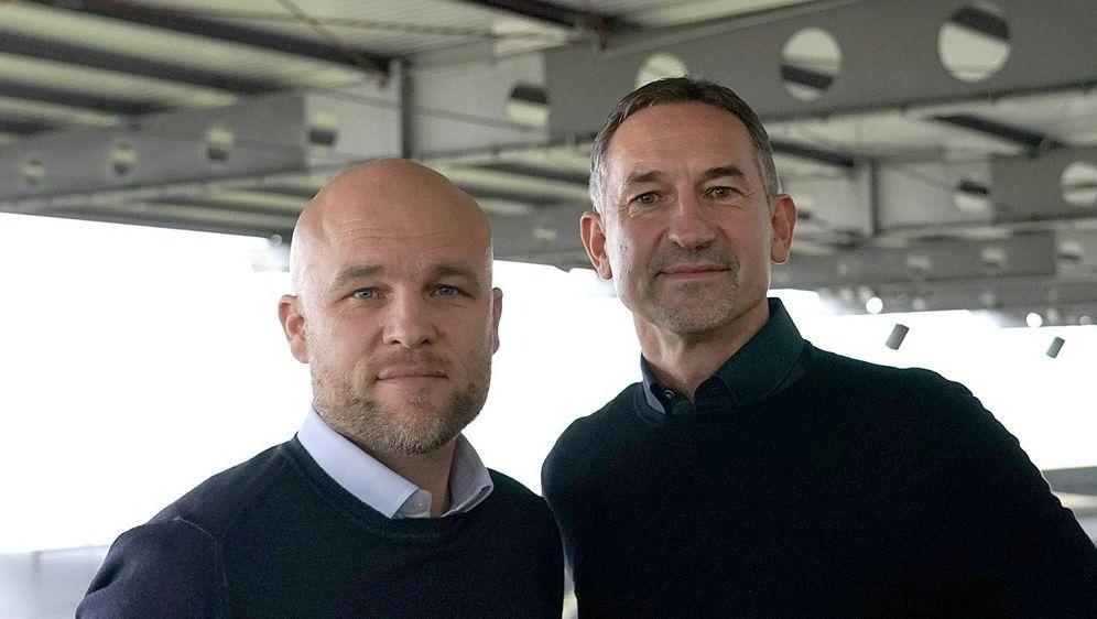Achim Beierlorzer (r.) ist neuer Trainer von Mainz 05 - Bildquelle: Mainz 05Mainz 05Mainz 05Rene Vigneron