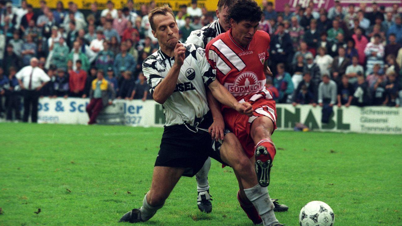 Platz 1: SV Sandhausen - VfB Stuttgart 15:14 n.E. (26 Elfmeter/ Saison 1995/1996) - Bildquelle: imago/Pressefoto Baumann