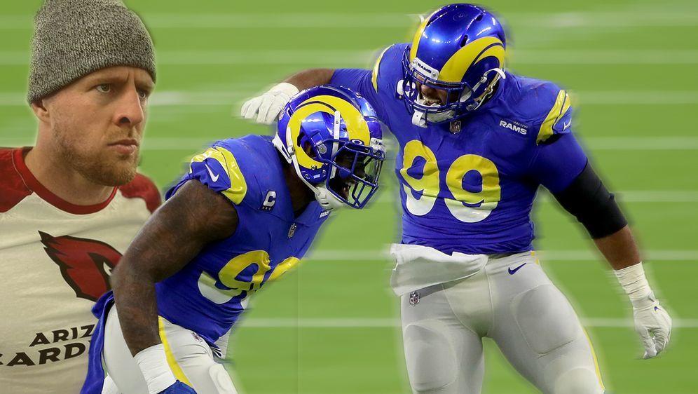 Die Los Angeles Rams um Michael Brockers und Aaron Donald lassen sich von de... - Bildquelle: 2020 Getty Images