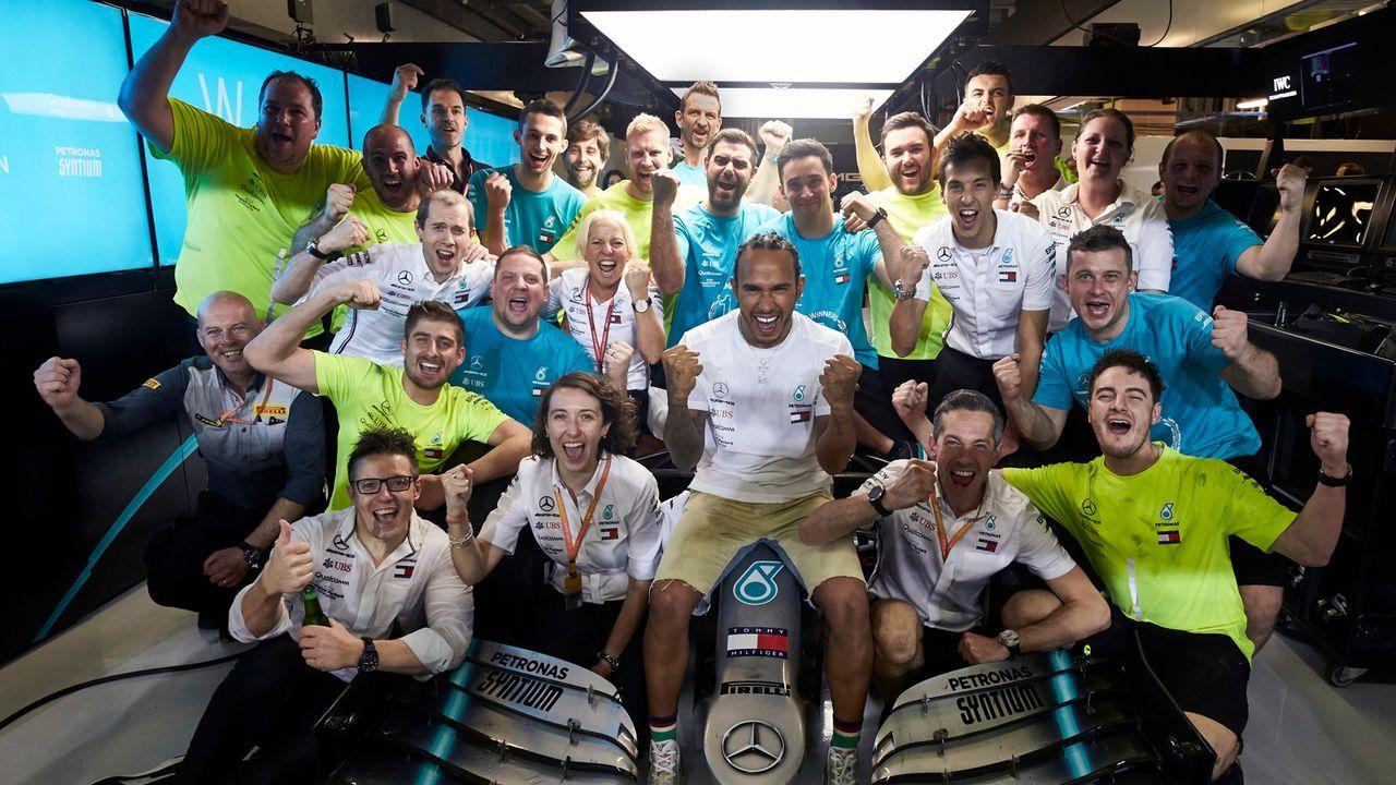 1. Lewis Hamilton (Mercedes) - Bildquelle: imago images/Motorsport Images