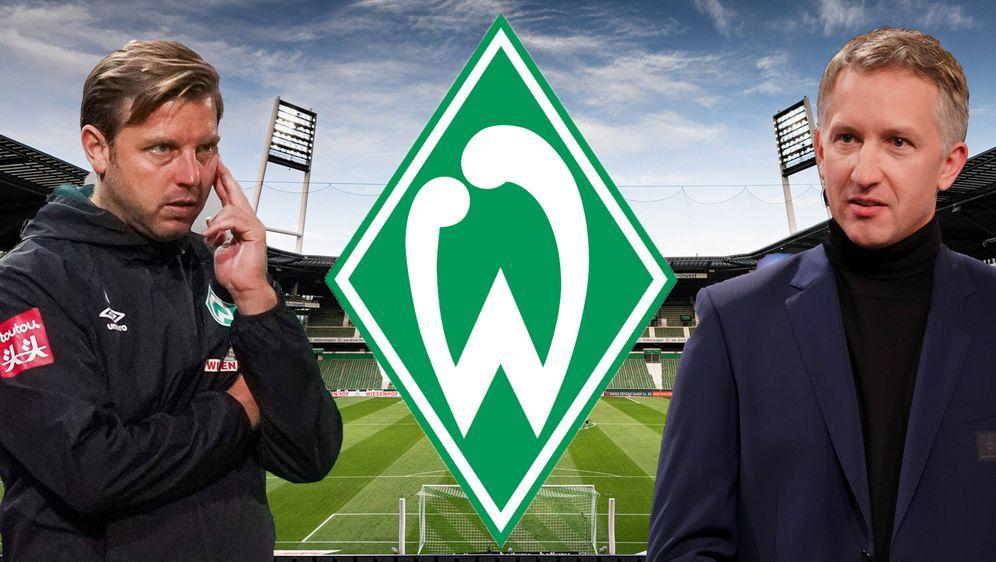 Florian Kohfeldt und Frank Baumann blicken mit dem SV Werder Bremen ungewiss... - Bildquelle: gumzmedia/nordphoto/Pool via xim.gs