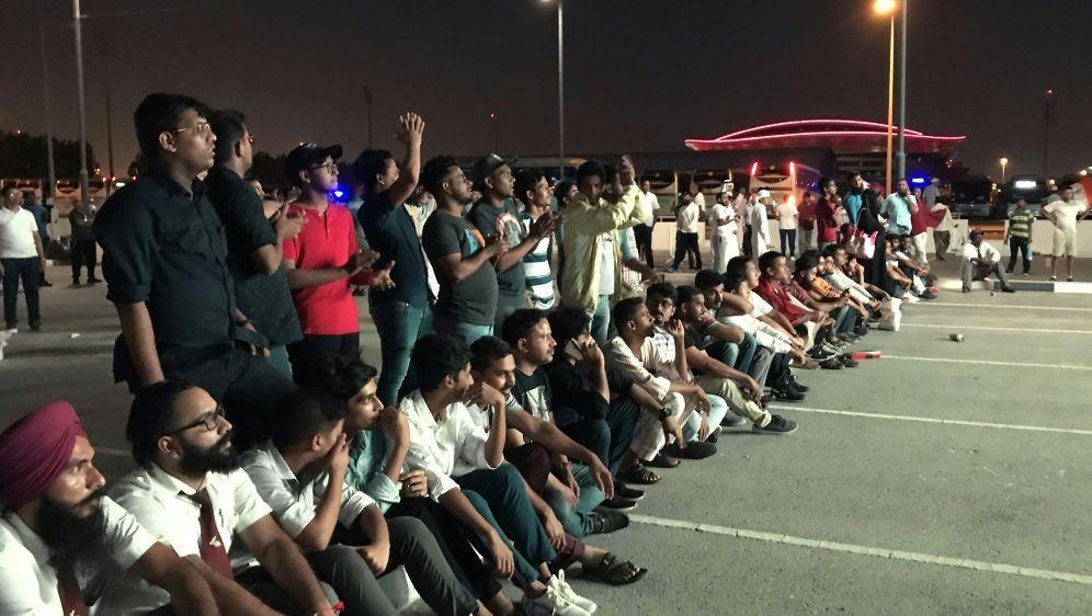 Fans von Indien durften nicht ins Stadion - Bildquelle: AFPSIDANNE LEVASSEUR