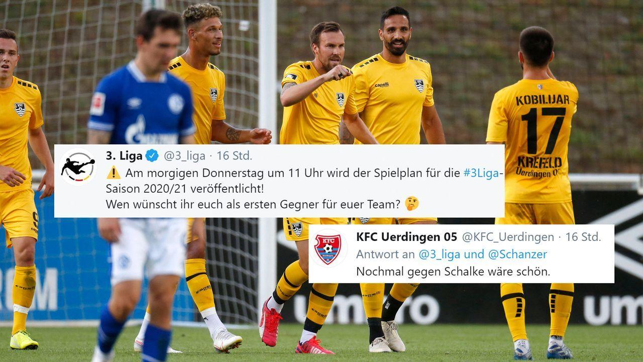 KFC Uerdingen wünscht sich Schalke als Drittliga-Gegner  - Bildquelle: imago images/Norbert Schmidt
