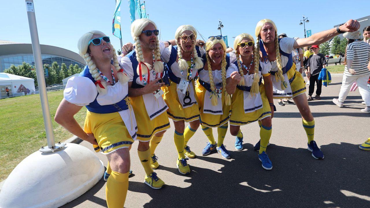 Schwedische Fans übernahmen in Sankt Petersburg - Bildquelle: Imago Images