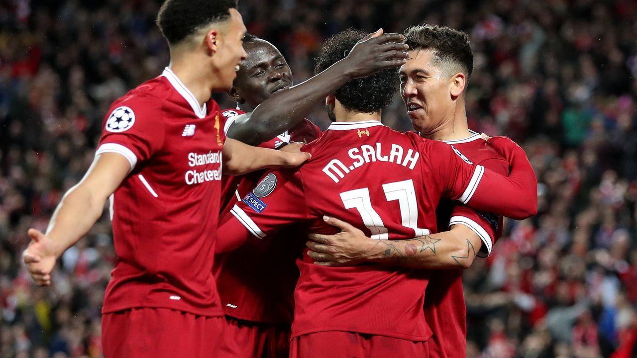 Sadio Mane, Mohamed Salah und Roberto Firmino (FC Liverpool, Saison 2017/18) - Bildquelle: imago/Colorsport