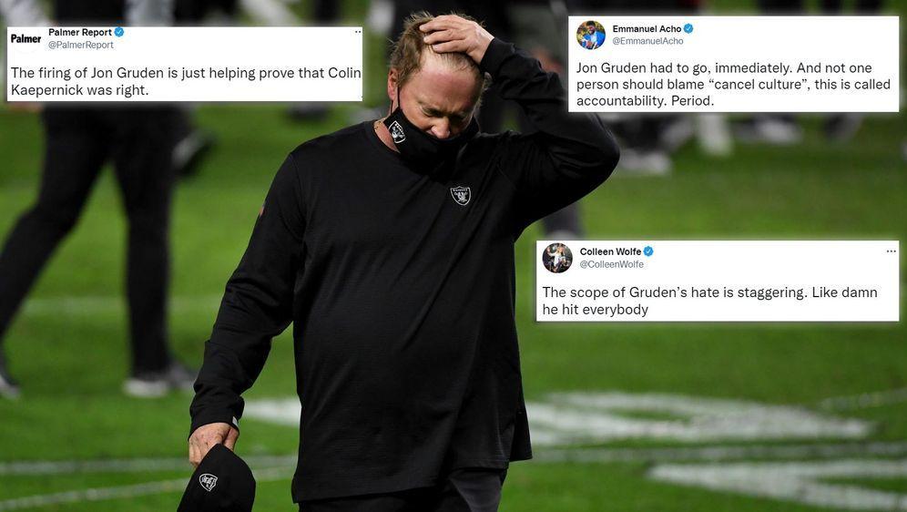 Die Reaktionen zum Gruden-Beben in der NFL - Bildquelle: getty/Twitter