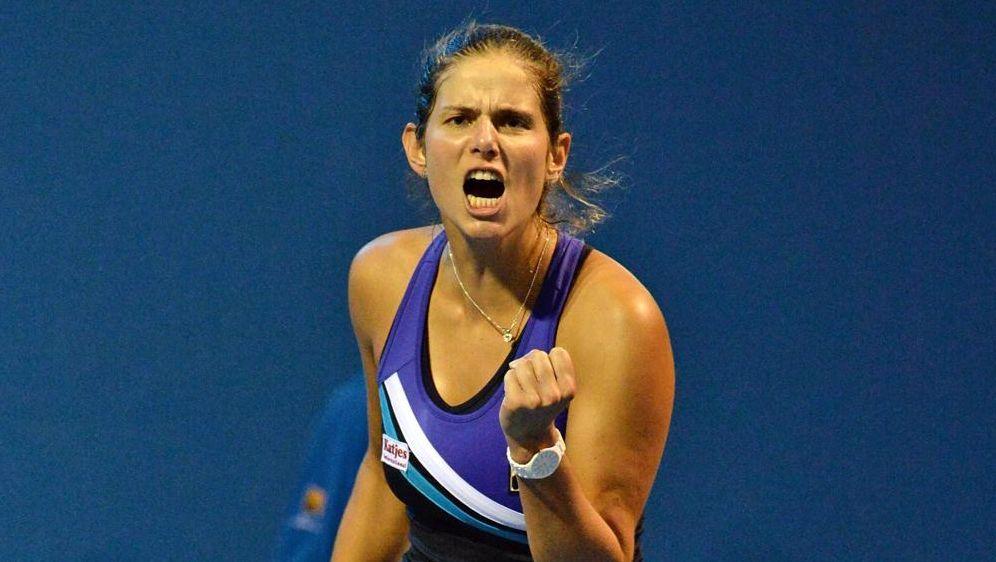 Große Freude über ihren Einzug in die zweite Runde des WTA-Turniers in India... - Bildquelle: SID-SID-PIXATHLON