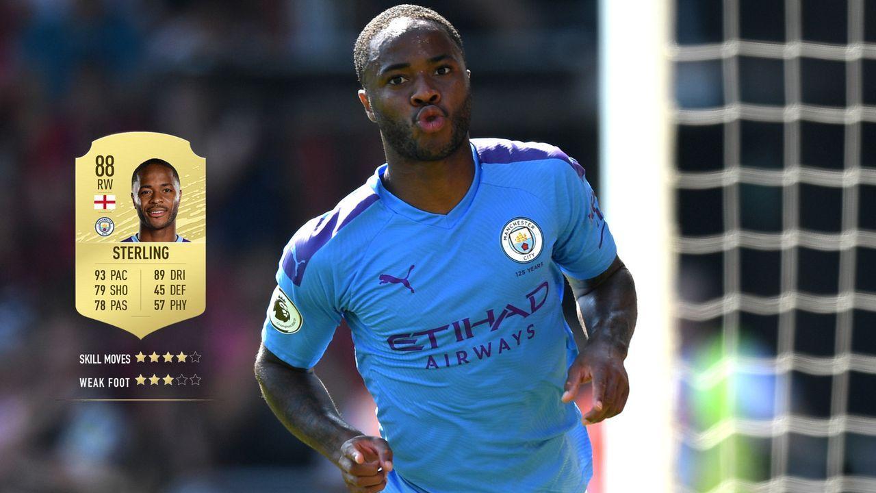 24. Raheem Sterling (Manchester City)  - Bildquelle: 2019 Getty Images