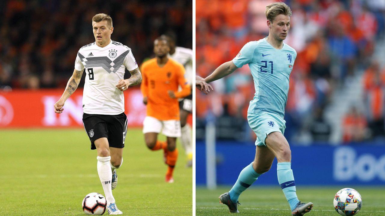 Zentrales Mittelfeld: Toni Kroos vs. Frenkie de Jong - Bildquelle: imago