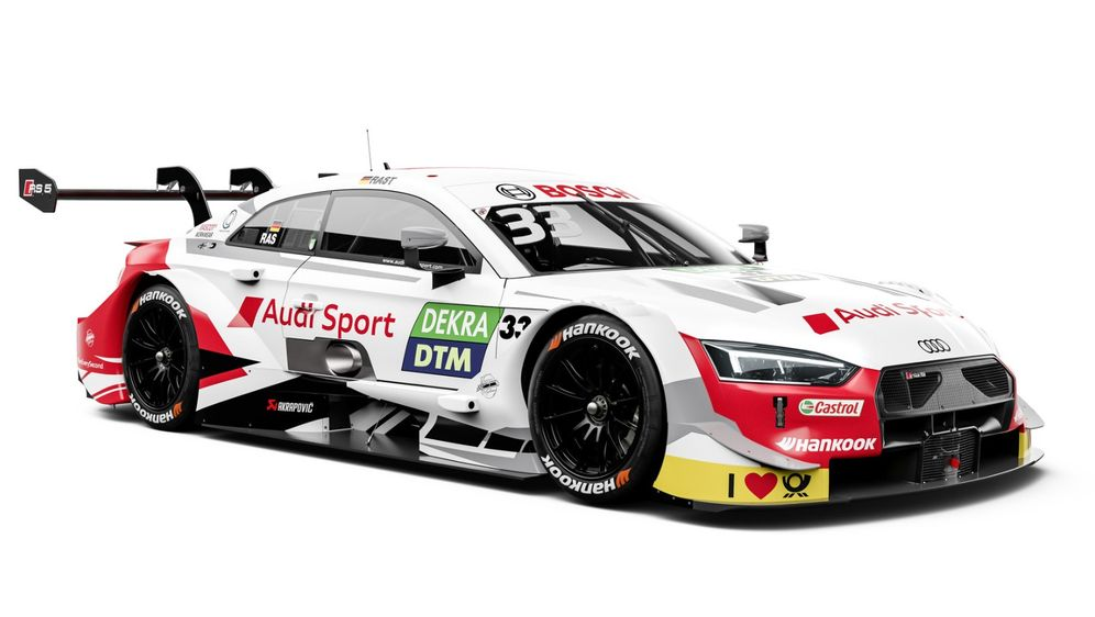 Rene Rast geht 2019 in der DTM mit einem mehrheitlich weißen Audi an den Sta... - Bildquelle: Audi AG