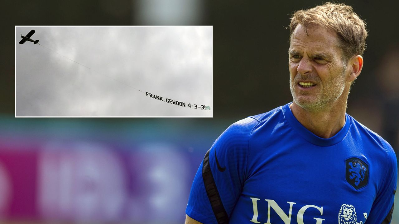 System-Kritik an Niederlande-Coach Frank de Boer via Flugzeug - Bildquelle: Imago