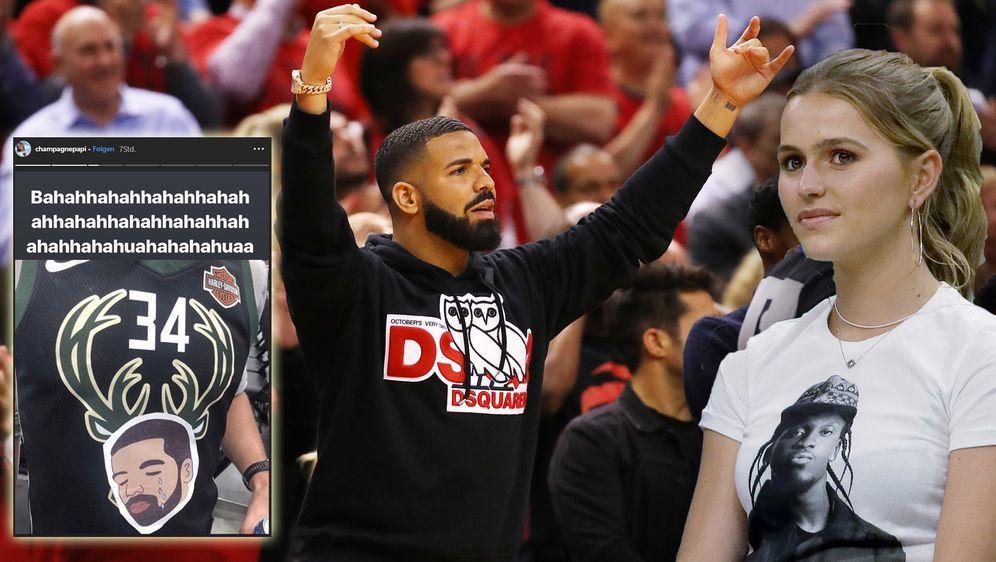 """Drake im """"sportlichen Beef"""" mit Bucks-Erbin Mallory Edens - Bildquelle: Getty/ Instagram@champagnepapi"""