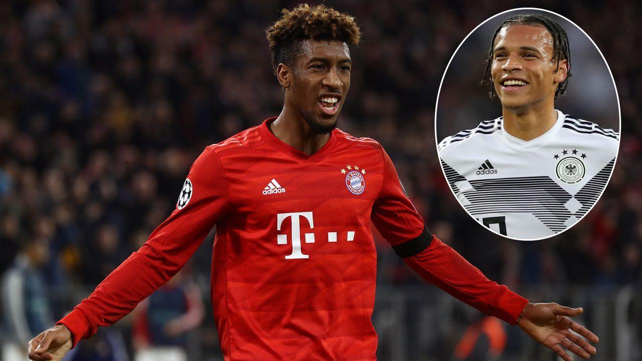 Kingsley Coman (FC Bayern München) und Leroy Sane (Manchester City) - Bildquelle: 2019 Getty Images