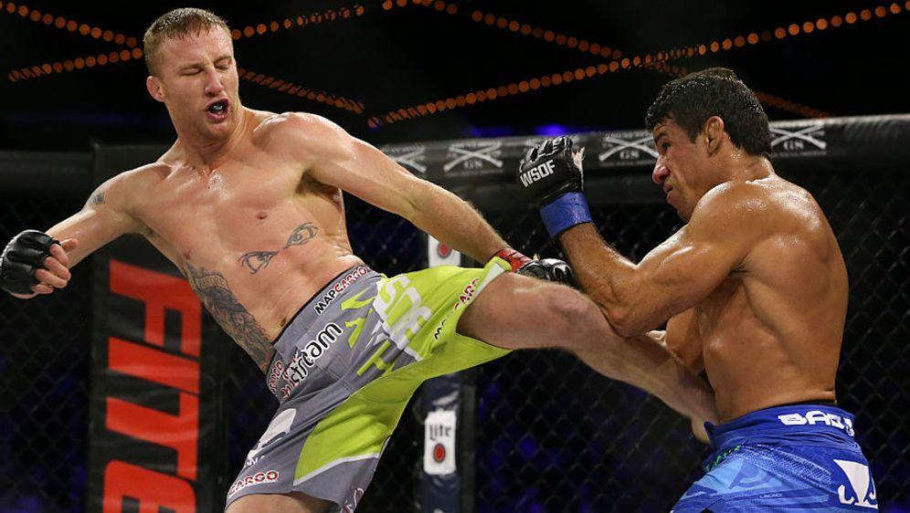 Justin Gaethje (l.) hat eine starke Knockout-Quote von 85 Prozent - Bildquelle: Getty Images