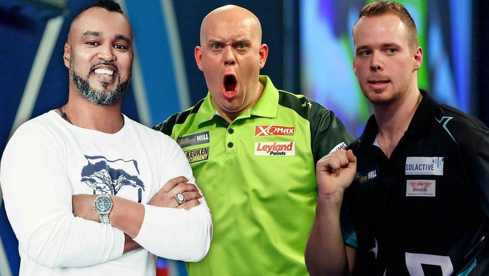 Der deutsche Darts-Profi Max Hopp (r.) gewann gemeinsam mit Jimi Blue Ochsen...