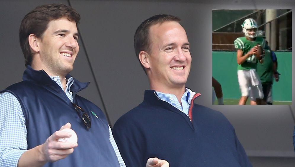 Eli und Peyton Manning (links) gewannen beide den Super Bowl - Bildquelle: Getty/Fox 8