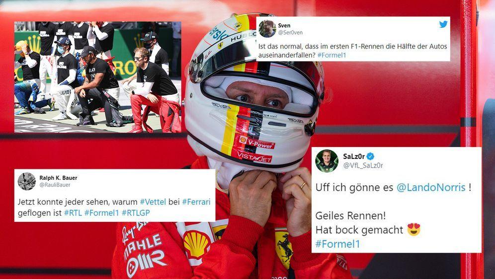 Das Internet lacht über den erneuten Patzer von Sebastian Vettel. Außerdem i... - Bildquelle: Imago/Twitter