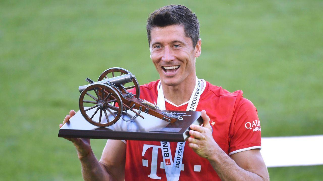 In diesen Bundesliga-Spielzeiten wäre Robert Lewandowski jetzt schon Torschützenkönig - Bildquelle: Imago Images