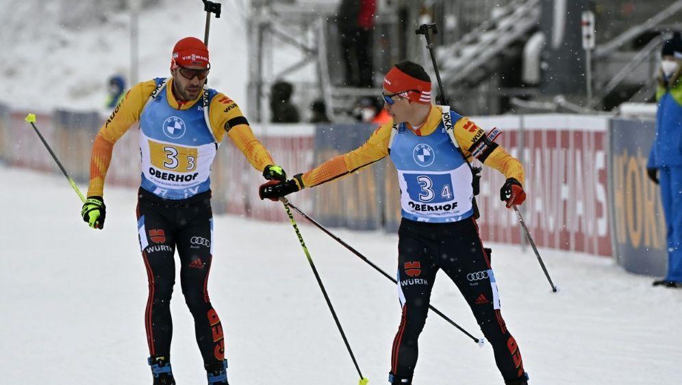 Deutsche Biathlon-Staffel erreicht nur Platz fünf - Bildquelle: AFPSIDTOBIAS SCHWARZ
