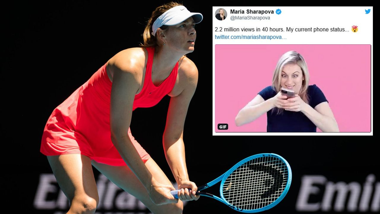 Maria Sharapova bekommt 2,2 Millionen Nachrichten auf das Handy - Bildquelle: imago images/ZUMA Press / Screenshot twitter @MariaSharapova