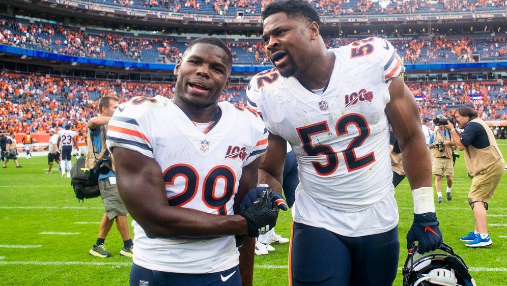 Khalil Mack und Tarik Cohen waren die Helden der Chicago Bears. - Bildquelle: imago