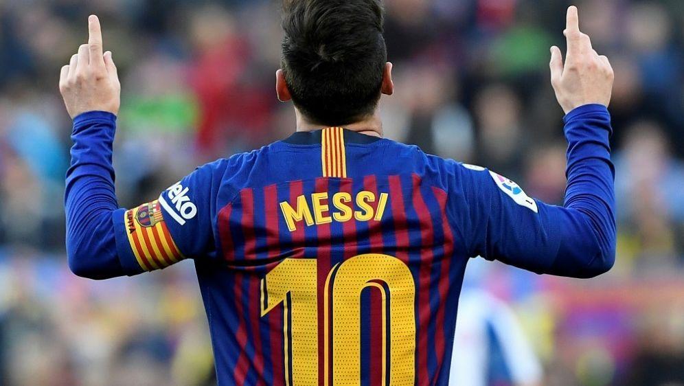 Mit zwei Toren gegen Espanyol: Lionel Messi - Bildquelle: AFPSIDLLUIS GENE