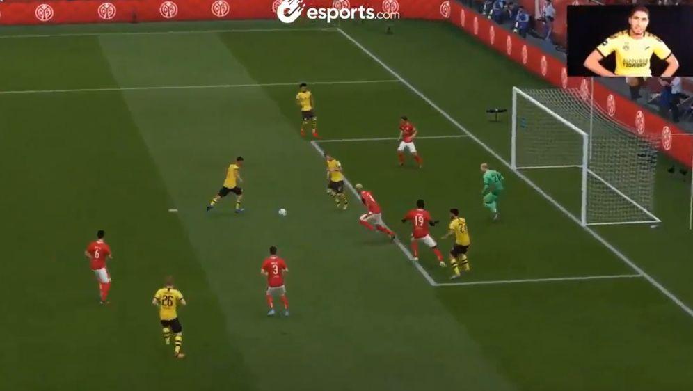 Achraf Hakimi vertritt seinen BVB bei der Bundesliga Home Challenge - Bildquelle: esports.com
