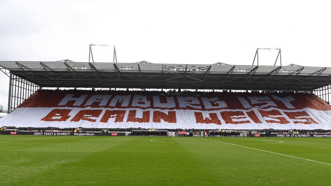 Hamburg-Derby: Pauli-Fans heizen dem Millerntor ein - Bildquelle: imago images / Matthias Koch