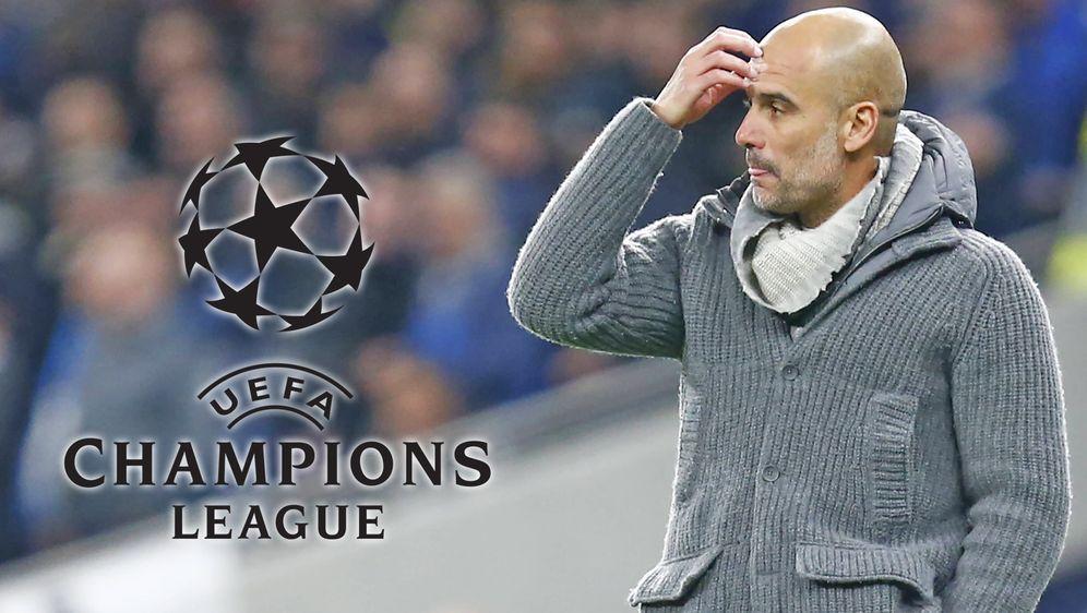 Pep Guardiola steht mit Manchester City vor dem Viertelfinal-Rückspiel der C... - Bildquelle: imago