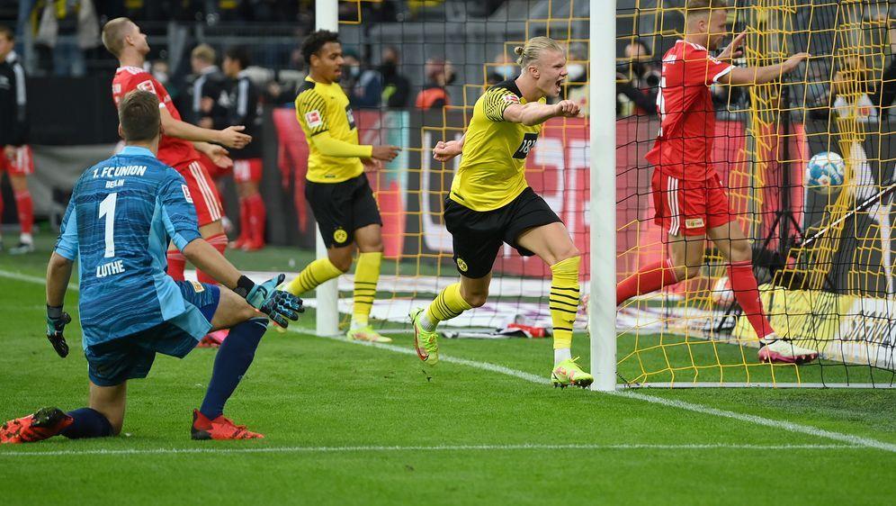 Erling Haaland traf gegen Union Berlin zwei Mal für Borussia Dortmund - Bildquelle: Getty Images