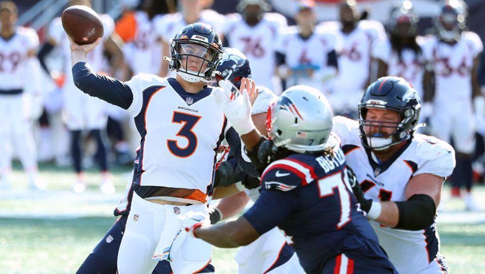 Quarterback Drew Lock bezwang mit den Denver Broncos die New England Patriot... - Bildquelle: 2020 Getty Images