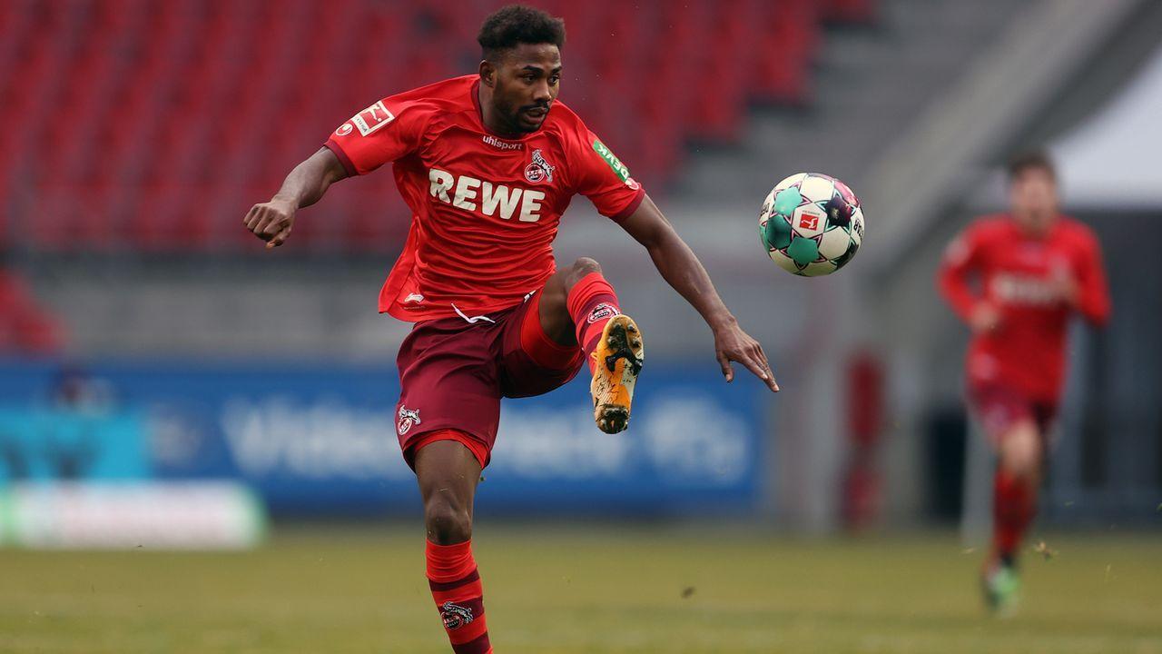 Angriff: Emmanuel Dennis (1. FC Köln) - Bildquelle: 2021 Getty Images