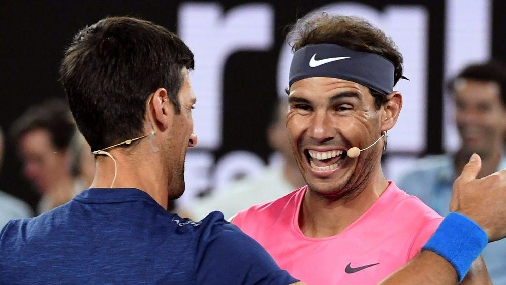 Gewinnen weiter: Rafael Nadal und Novak Djokovic - Bildquelle: AFPAFPWILLIAM WEST
