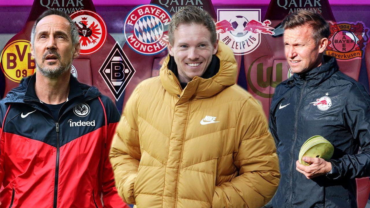 Das verrückte Trainerkarussell: Alle Top-Teams der Bundesliga betroffen - Bildquelle: Imago Images