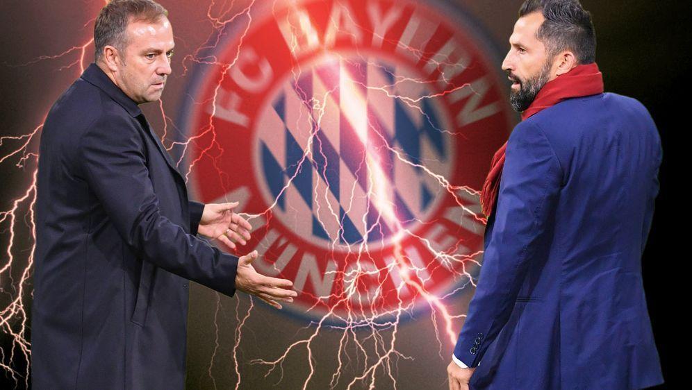 Die Protagonisten des Bayern-Bebens: Trainer Hansi Flick und Sportvorstand H... - Bildquelle: imago images/Sven Simon