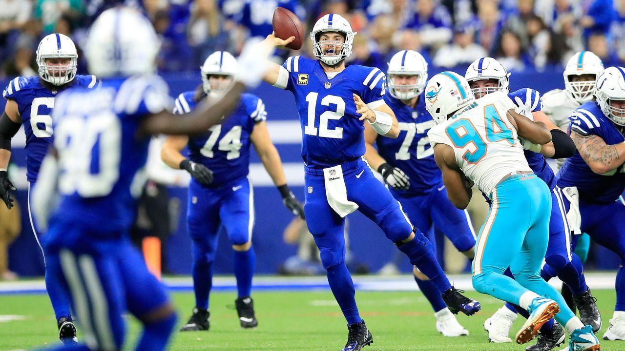 Gewinner: Andrew Luck und die Offensive-Line der Colts - Bildquelle: 2018 Getty Images
