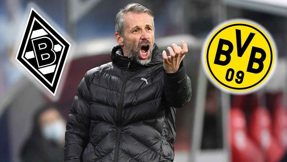 (Noch)-Gladbach-Trainer Marco Rose gegen seinen zukünftigen Verein Borussia ... - Bildquelle: getty