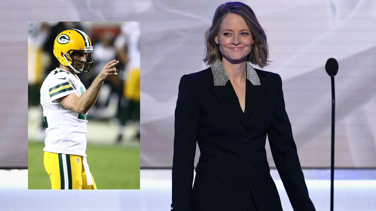 Hollywood-Star Jodie Foster erwähnt Aaron Rodgers in Dankesrede - Bildquelle: Imago/Getty
