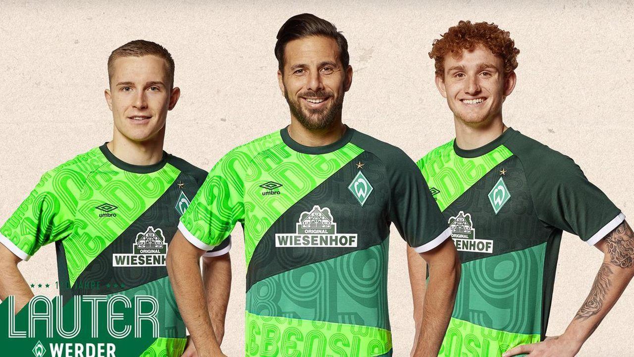Das Jubiläumstrikot des SV Werder - Bildquelle: twitter @werderbremen