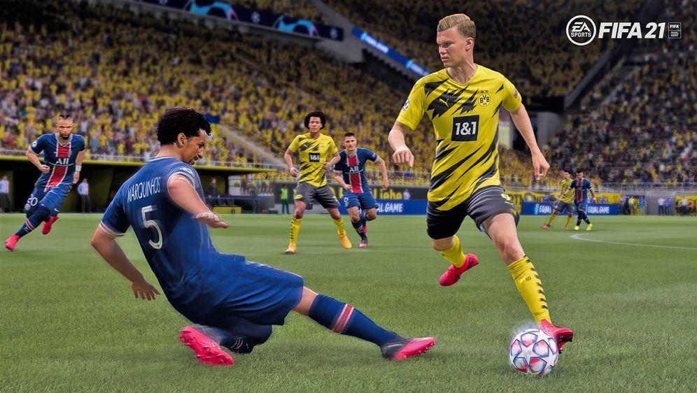 """Großen Talenten Erling Haaland können in """"FIFA 21"""" konkrete Trainingsziele z... - Bildquelle: EA Sports"""