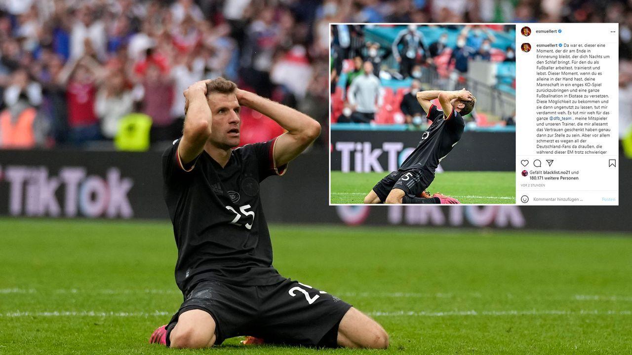 Nach EM-Aus: Thomas Müller entschuldigt sich - Bildquelle: Getty Images/instagram@esmuellert