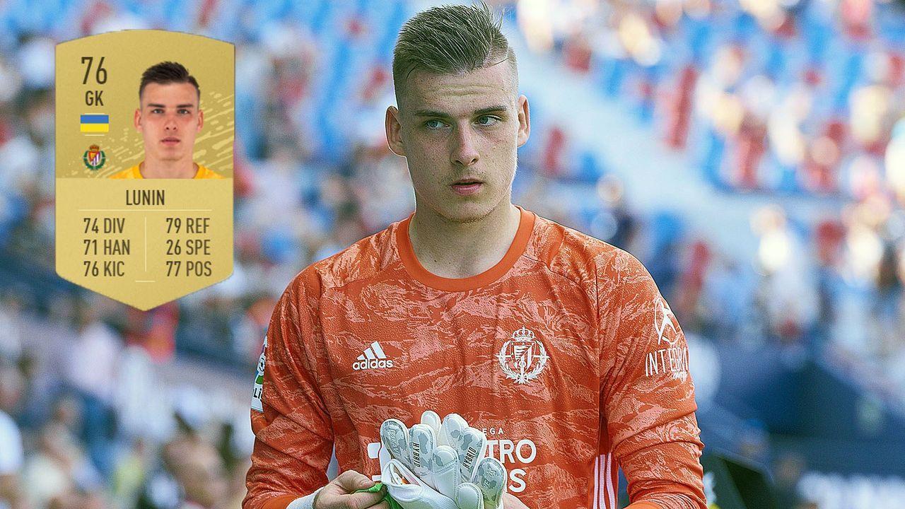 Torwart: Andriy Lunin (+12/Real Valladolid) - Bildquelle: imago images / Icon SMI