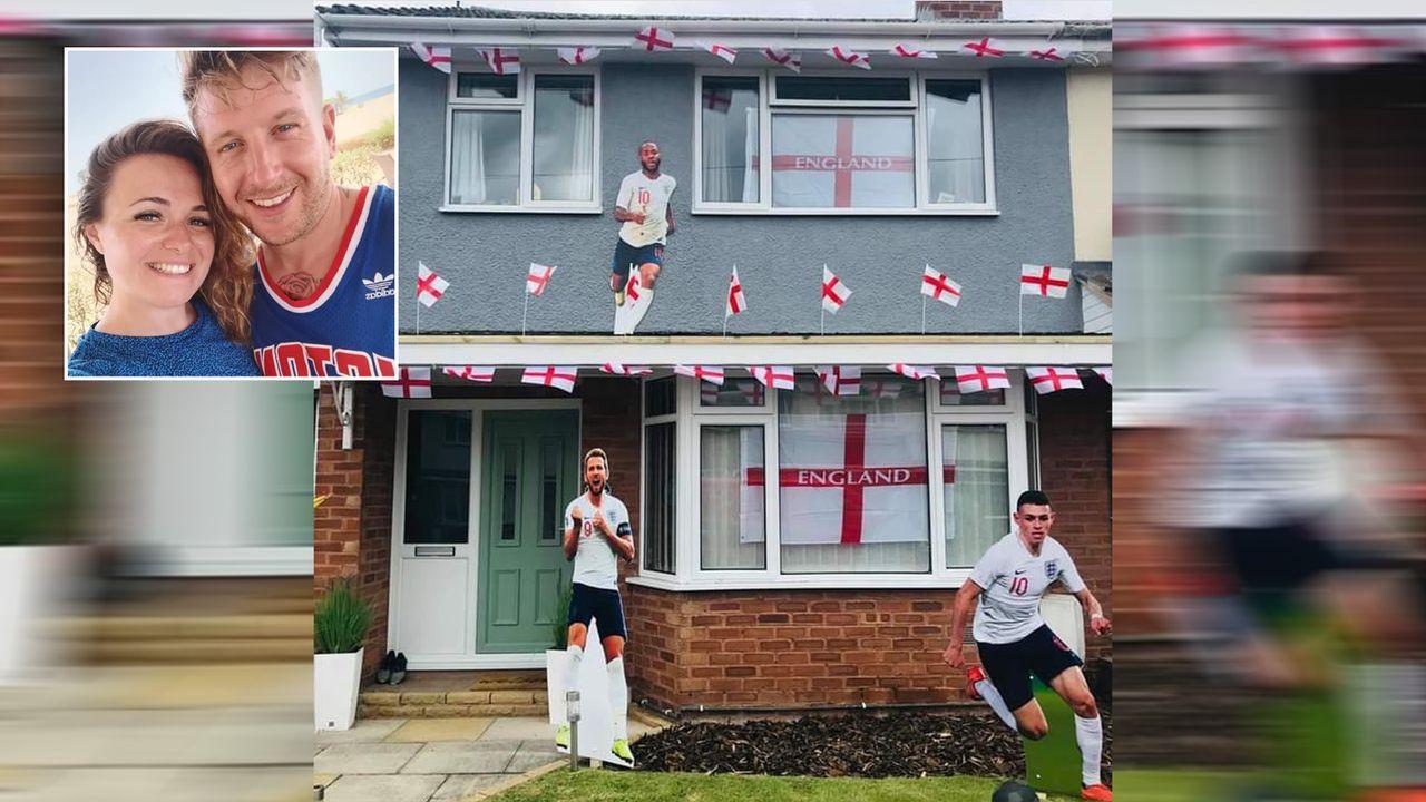 Während Freundin arbeitet: England-Fan gestaltet Haus um - Bildquelle: Dave Jones/facebook