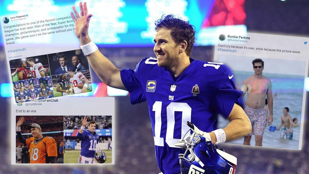 Twitter huldigt Giants-Legende Eli Manning - Bildquelle: 2018 Getty Images