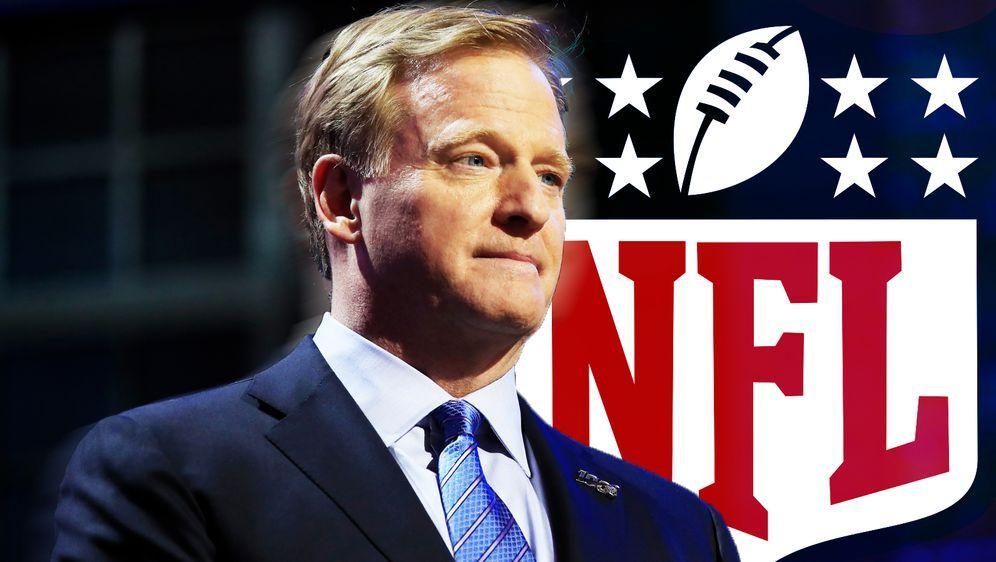 NFL-Commissioner Roger Goodell wünscht sich eine baldige Einigung bei den Ta... - Bildquelle: Getty/ran.de