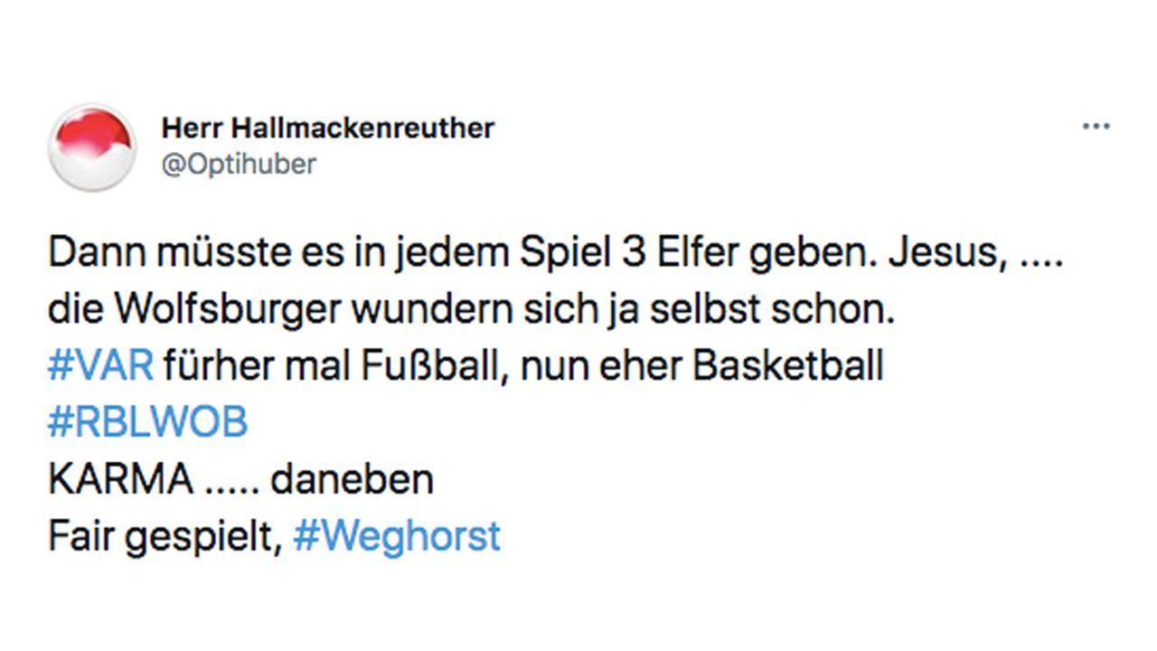 VAR-Wahnsinn im DFB-Pokal: So reagiert das Netz - Bildquelle: Twitter/@Optihuber