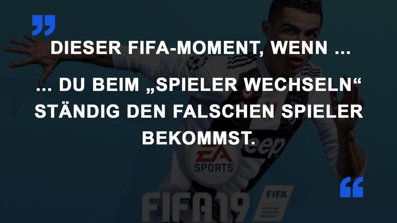 FIFA Momente falscher Spieler